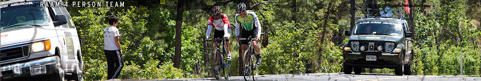 Race Across America (RAAM) 2008 4 Person Team